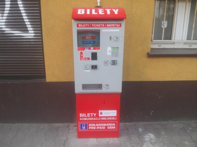 Biletomat ZTM Warszawa przy stacji PKP Sulejówek Miłosna