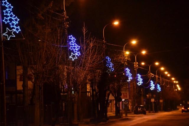 Iluminacje na ulicy Dworcowej w Sulejówku