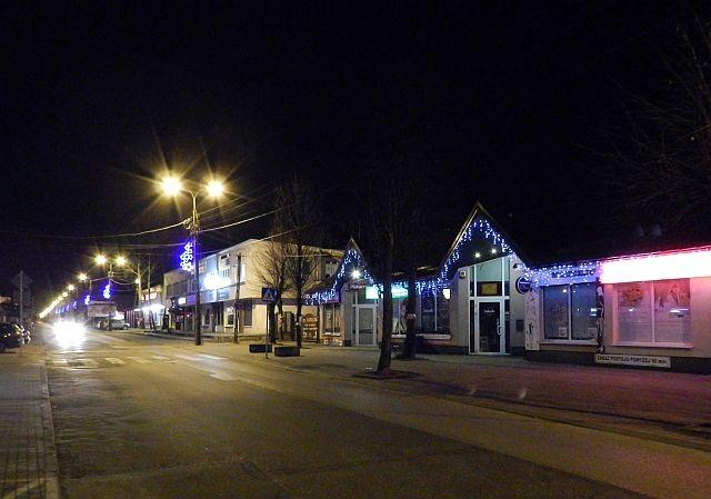 Iluminacja na ulicy Dworcowej w Sulejówku