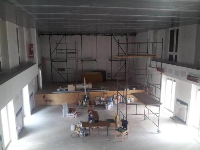 Remont sali widowiskowo-kinowej w parafii Przemieniania Pańskiego w Sulejówku - Miłośnie