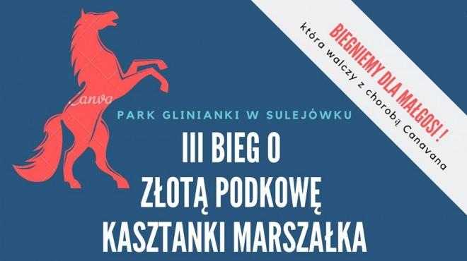 Plakat promujący III Bieg o Złotą Podkowę Kasztanki Marszałka w Sulejówku 2019