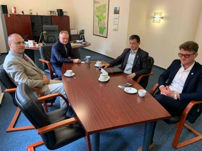Rozmowy o współpracy pomiędzy Sulejówkiem a dzielnicą Wesoła (Źródło: Urząd Miasta Sulejówek)