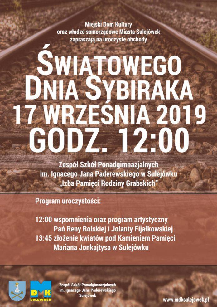 Światowy Dzień Sybiraka - Plakat promujący uroczyste obchody w Sulejówku