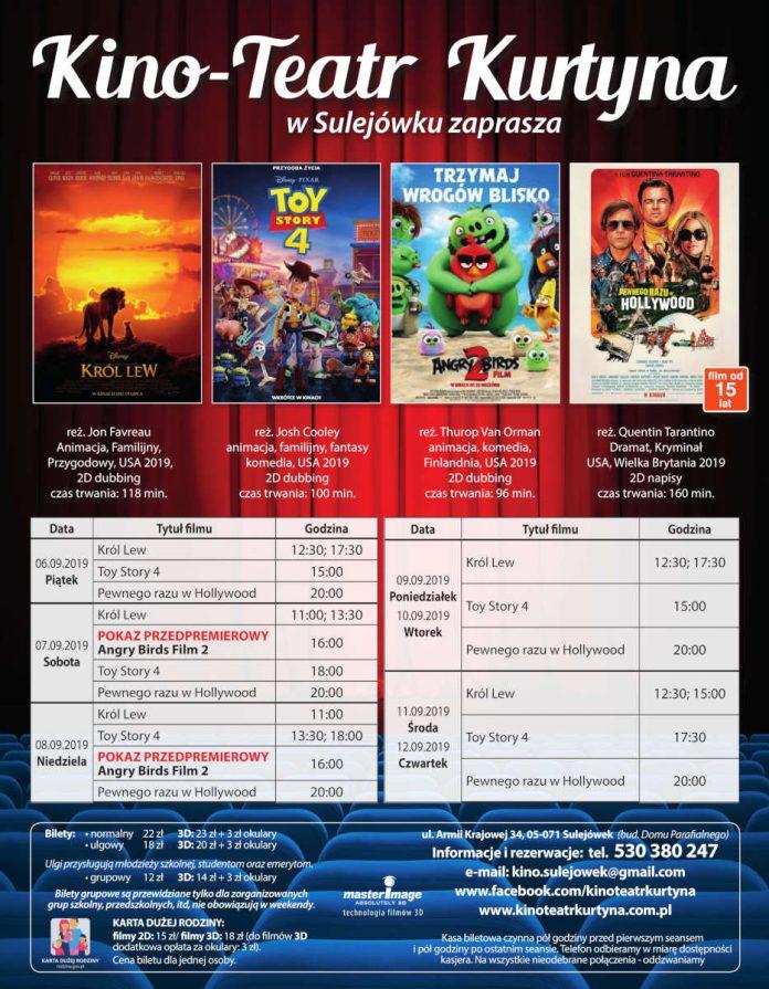 Repertuar Kino-Teatr Kurtyna. Od 6 września do 12 września