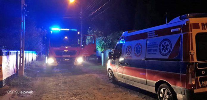 Awantura domowa i próba samobójcza na ulicy Kormoranów w Sulejówku (Źródło: OSP Sulejówek)