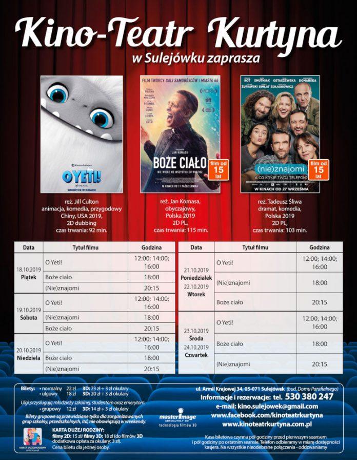 Repertuar Kino-Teatr Kurtyna w Sulejówku