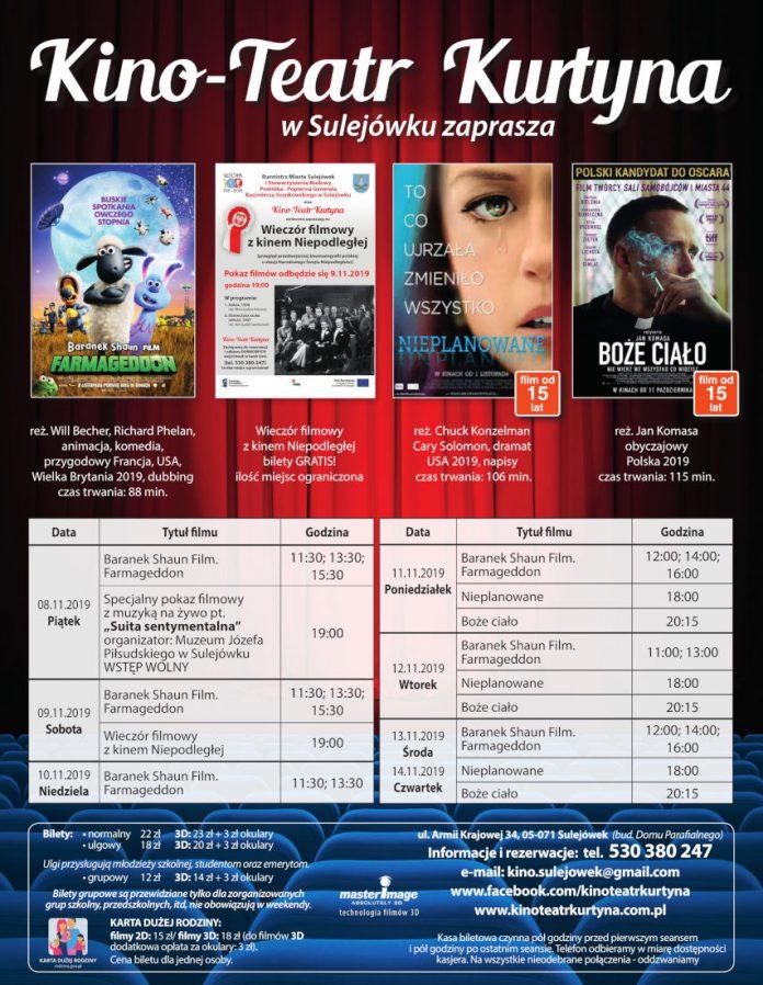Repertuar Kino-Teatr Kurtyna w Sulejówku od 8 listopada do 14 listopada