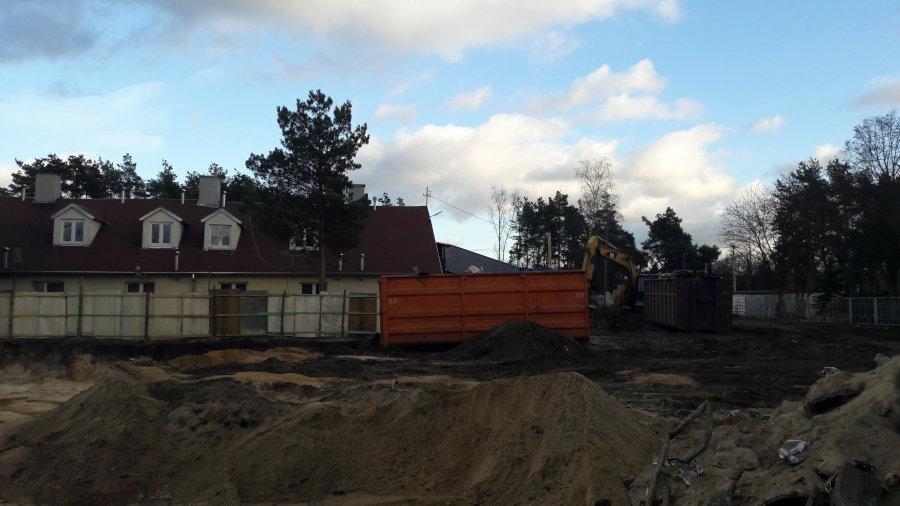 Budowa bloku komunalnego przy ulicy Szosowej w Sulejówku (Fot: Hubert Wasilewski)