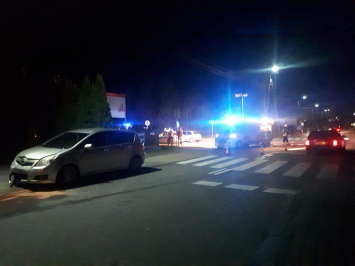 Zderzenie Toyoty z Citroenem w miesjcowości Dobre w dniu 3 października