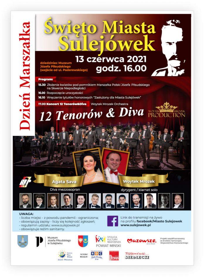 Plakat promujący Święto Miasta Sulejówek - Dzień Marszałka Źródło: Urząd Miasta Sulejówek